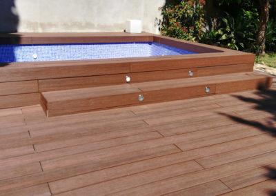 Jardín con piscina en Barcelona